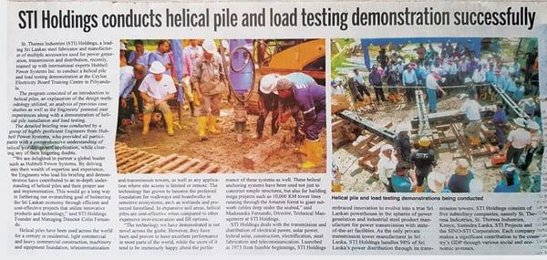 sri-lanka-helical-piles-newspaper